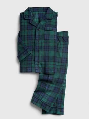 Gap Plaid PJ Set in Fleece