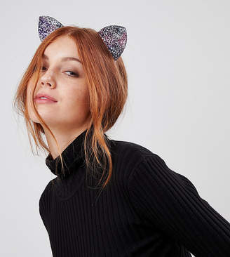Orelia Halloween glitter cat ears