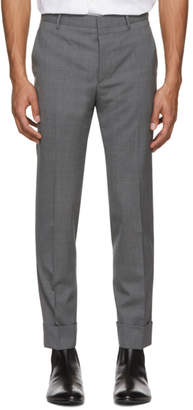 Prada Grey Wool Slim Trousers