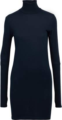 Enza Costa Cotton And Cashmere-blend Turtleneck Mini Dress