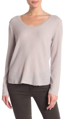 Double Zero Waffle Knit Scoop Neck Sweater