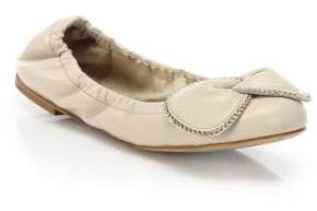 See by Chloe Clara Chain Leather Ballet Flats
