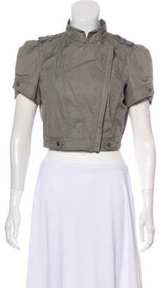 Brunello Cucinelli Short Sleeve Cropped Jacket