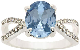 SPARKLE ALLURE Sparkle Allure Ring Box Test Womens 3/4 CT. T.W. Lab Created Blue Pure Silver Over Brass Cocktail Ring