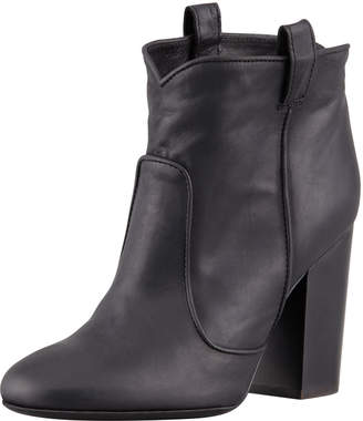 Laurence Dacade Pete Pull-On Leather Ankle Boot, Black