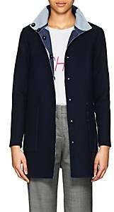Lisa Perry Women's Reversible Wool Swing Coat - Blue