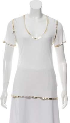 Zadig & Voltaire Metallic-Trim Short Sleeve T-Shirt