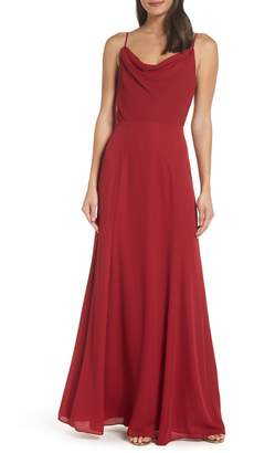 WAYF The Melanie Cowl Neck Gown