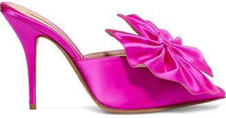 Alexandre Vauthier Kate Bow-embellished Satin Mules