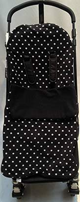 Silver Cross Snuggle Footmuff/Cosy Toes Compatible with Buggy Surf Wayfarer Pop Duo - Polka Dot Black