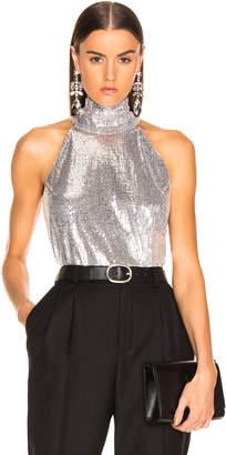 Galvan Galaxy Sash Neck Tunic Top in Silver | FWRD
