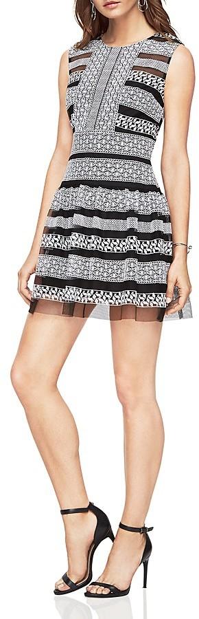 BCBGMAXAZRIABCBGMAXAZRIA Embroidered Lace Dress
