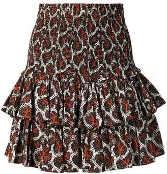 Etoile Isabel Marant floral frill mini skirt