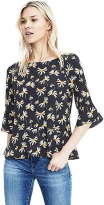 Flutter Sleeve Floral Top $78 thestylecure.com