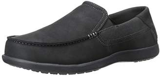 Crocs Men's Santa Cruz 2 Luxe Leather M Slip-On Loafer Black