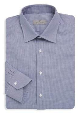Canali Classic Spread Collar Cotton Dress Shirt