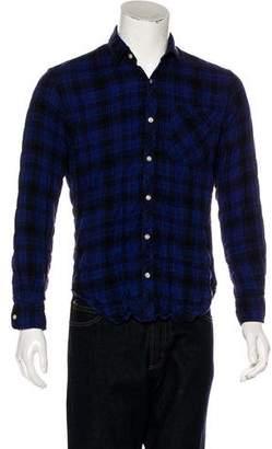 What Goes Around Comes Around Woven Plaid Shirt