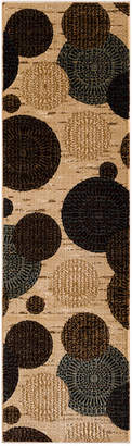 "Km Home Sanford Comet Wheat 2'3"" x 7'7"" Runner Rug, Created for Macy's"