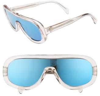 Celine Flat Top Shield Sunglasses