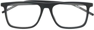 HUGO BOSS matte angular glasses