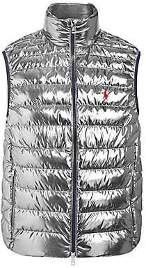 Polo Ralph Lauren Men's Packable Metallic Down Vest