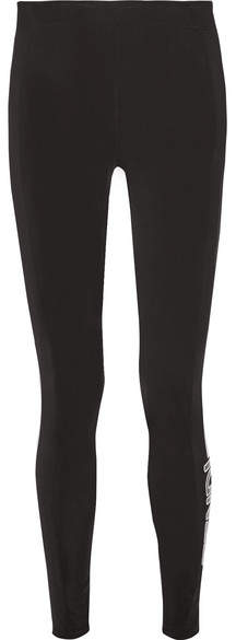 Fendi - Printed Tech-jersey Ski Leggings - Black