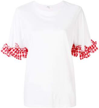 Clu gingham sleeve blouse