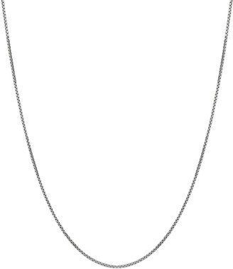 Everlasting Gold 14k White Gold Box Chain Necklace