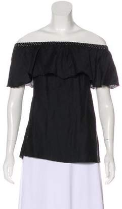 Loomstate Off-The-Shoulder Short Sleeve Top