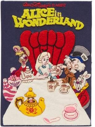 Olympia Le-Tan Olympia Le Tan Walt Disney's Alice In Wonderland Book Clutch - Womens - Blue Multi