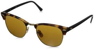 Ray-Ban Men's Clubmaster Square Sunglasses,Sand Havana & Gold