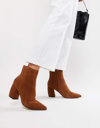 Asos Design DESIGN Radius Suede Ankle Boots