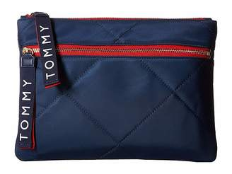 Tommy Hilfiger Quilt Solid Nylon Flat Pouch