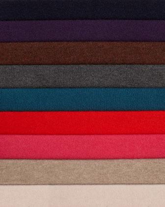 Neiman Marcus Cashmere Stitch-Front Sweater