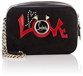Christian Louboutin Women's Rubylou Suede & Leather Crossbody Bag