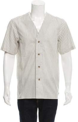 Leon Aimé Dore Pinstripe Short -Sleeve Shirt