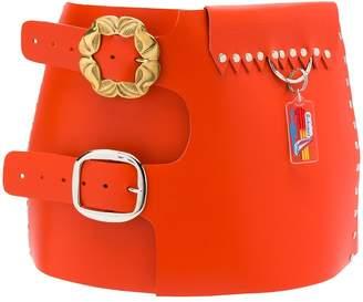 Chopova Lowena double buckle wide belt