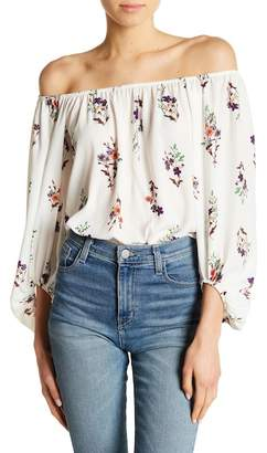 Sweet Rain Apparel Off-the-Shoulder Floral Bodysuit