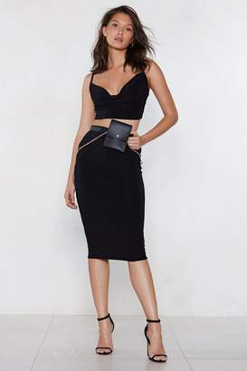 Nasty Gal Cowl Deep is Your Love Crop Top and Midi Skirt Set