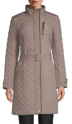 Cole Haan Belted Quilted Coat