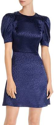 Aqua Tonal Leopard-Print Fit-and-Flare Dress - 100% Exclusive