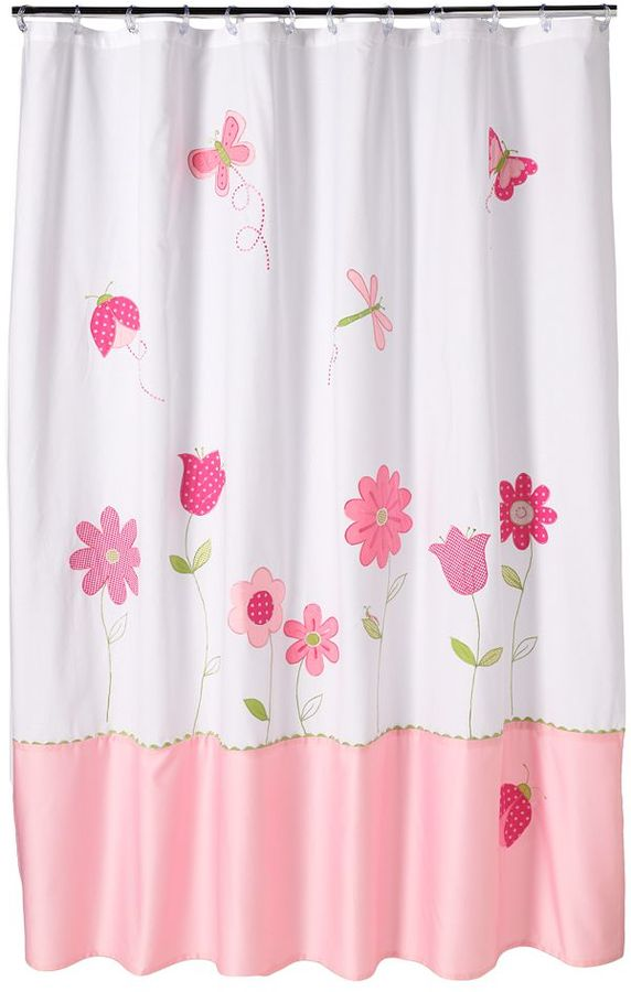 Saturday knight, ltd. butterfly garden fabric shower curtain
