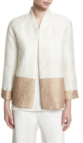 Caroline RoseCaroline Rose Paneled Cloque Boxy Jacket, Plus Size
