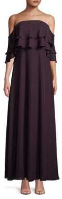Calvin Klein Strapless Ruffle Gown