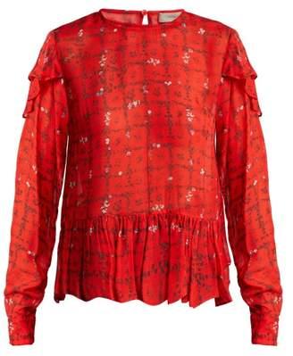 Preen Line Bryoni Vine Print Blouse - Womens - Red Print