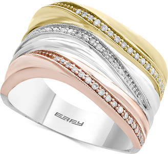 Effy Trio by Diamond Triple Band Ring (1/5 ct. t.w.) in 14k Gold, White Gold & Rose Gold
