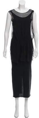 Hache Rib Knit Maxi Dress