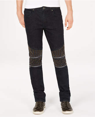 INC International Concepts I.n.c. Men's Slim-Straight Fit Stretch Studded Jeans
