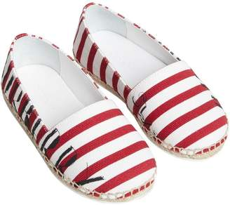 Burberry SW1 Print Striped Espadrilles
