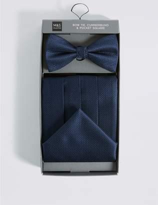 Marks and Spencer 3 Piece Bow Tie, Cummerbunds & Pocket Square Set